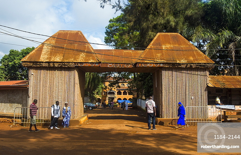 Entrance to the Palace of the Sultan of Bamun at Foumban, Cameroon