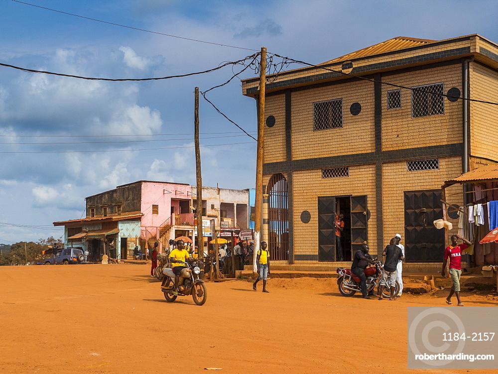 Town center of Yokadouma, Eastern Cameroon