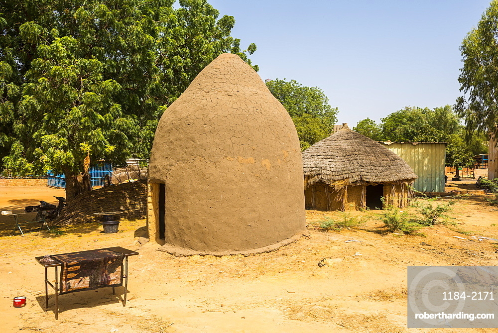 Traditional hut in the National Museum, Niamey, Niger, Africa