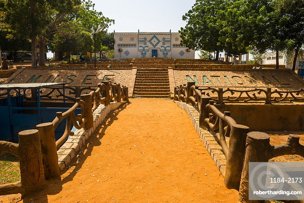 Traditional architecture building in the National museum, Niamey, Niger