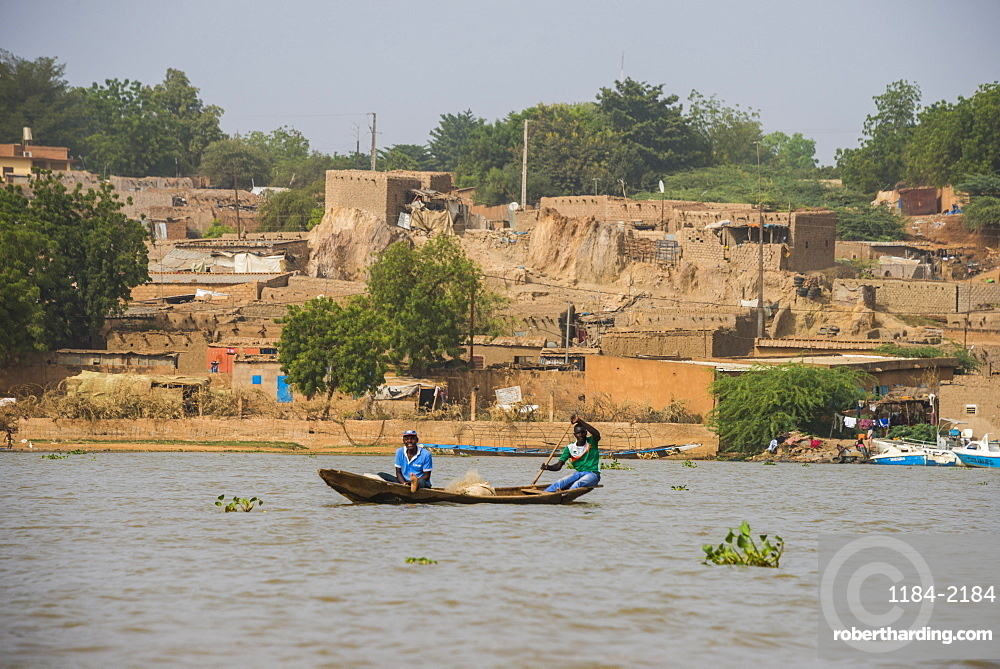 Local pirogue on the River Niger, Niamey, Niger, Africa