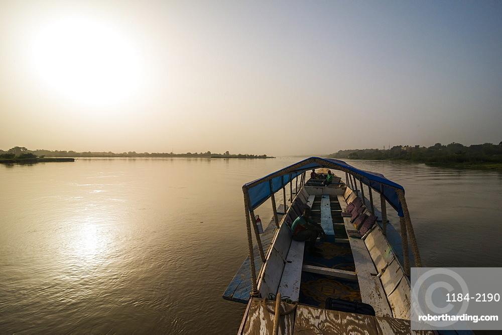 Local pirgue, river Niger, Niamey, Niger