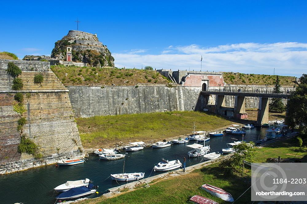 Old Fortress of Corfu town, Corfu, Ionian Islands, Greek Islands, Greece, Europe