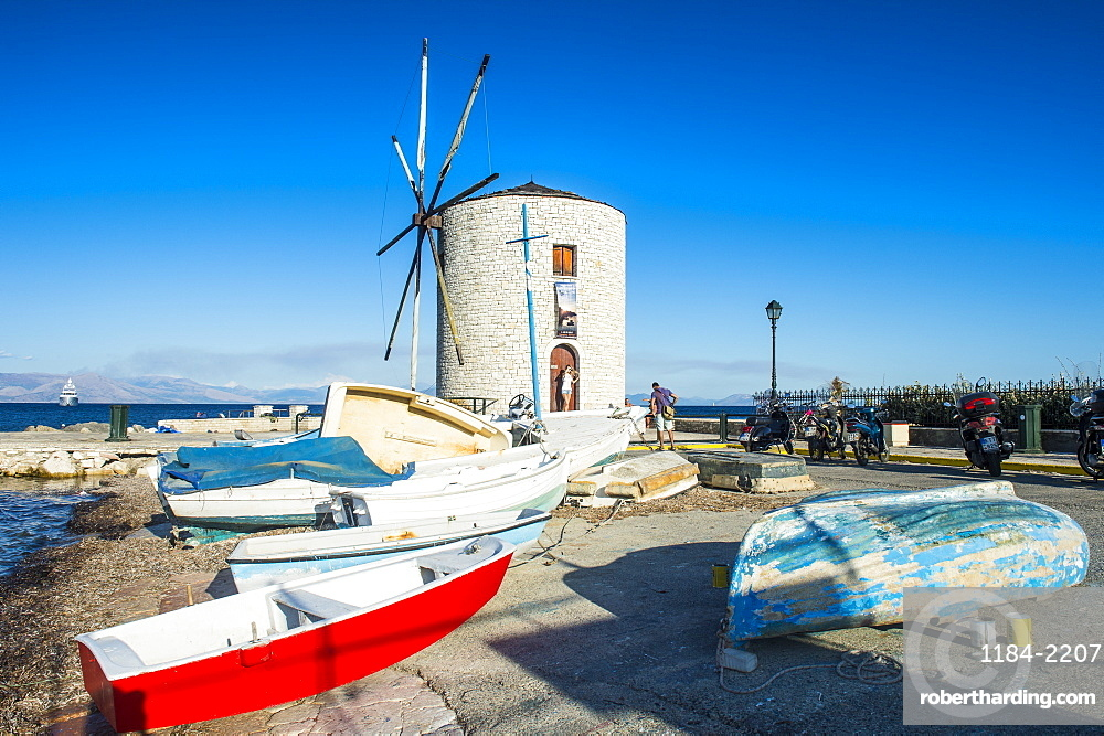 Windmill in the old town of Corfu, Ioanian islands, Greece