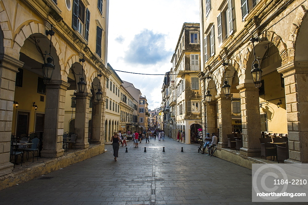 The old town of Corfu, Ionian Islands, Greek Islands, Greece, Europe
