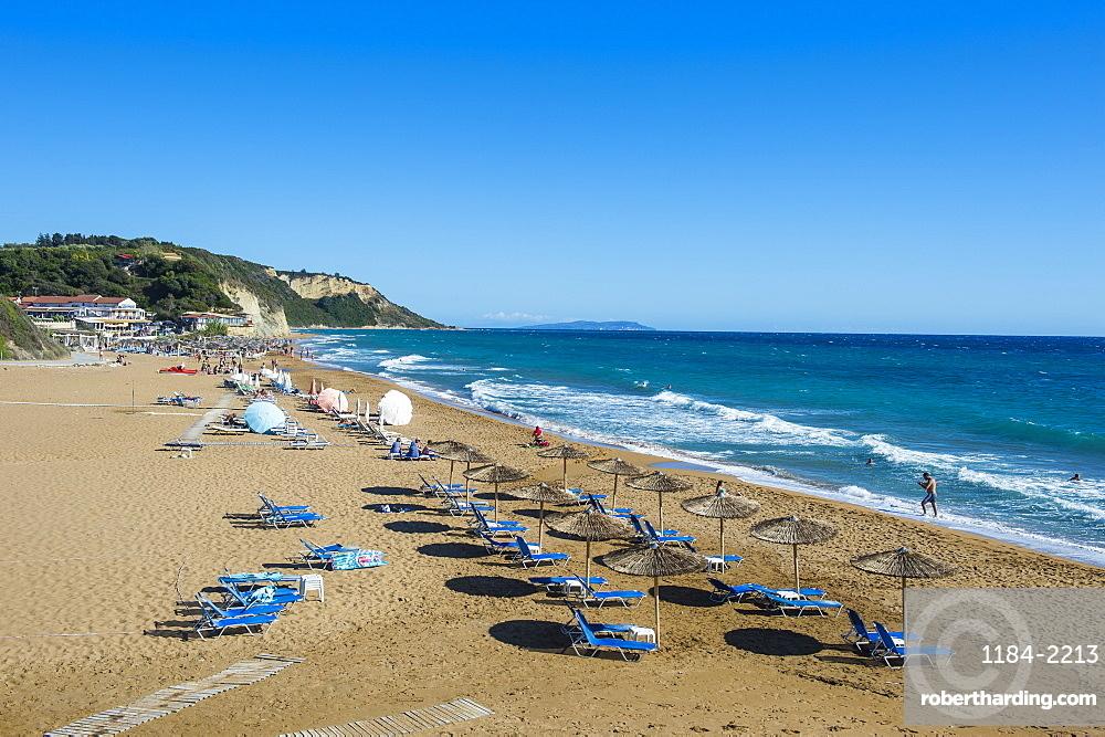 The beach of Argios Georgios, Corfu, Ionian Islands, Greek Islands, Greece, Europe