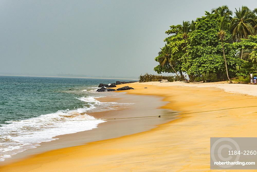 Beautiful beach in Robertsport, Liberia, West Africa, Africa
