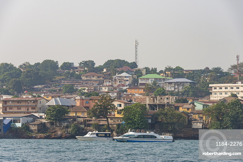 Skyline of Freetown, Sierra Leone, West Africa, Africa