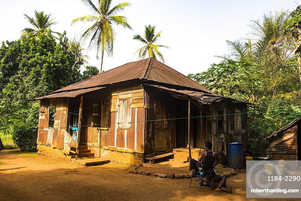 Old creole house, Banana islands, Sierra Leone