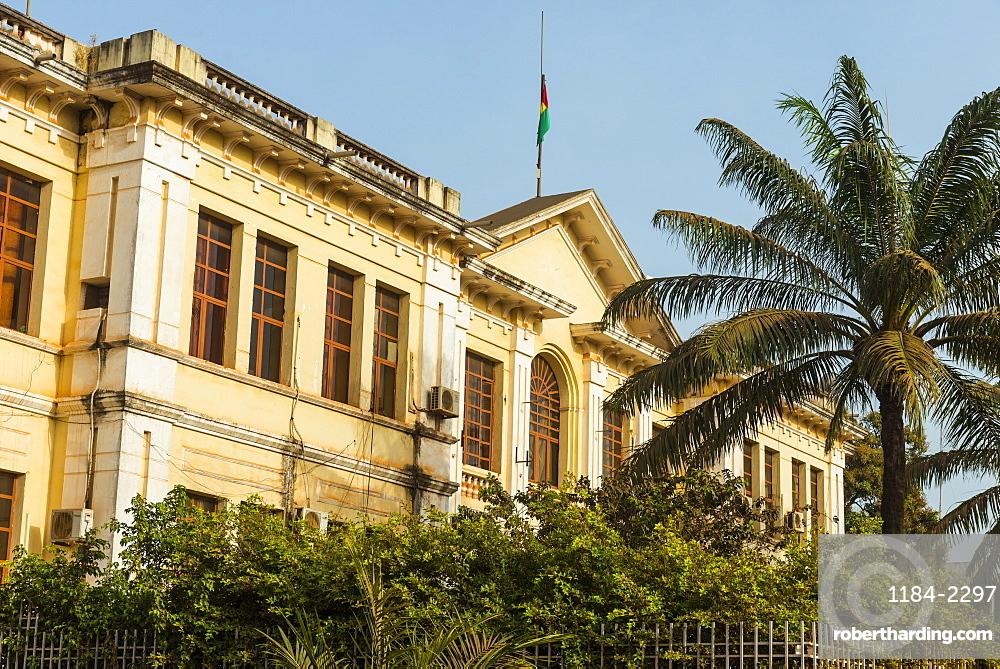 Old Portuguese architecture, Bissau, Guinea Bissau, West Africa, Africa