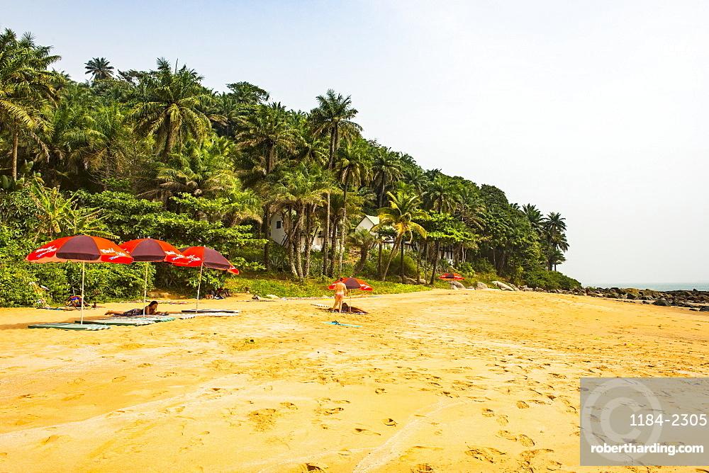 Beautiful remote beach on Los islands, Republic of Guinea, West Africa, Africa