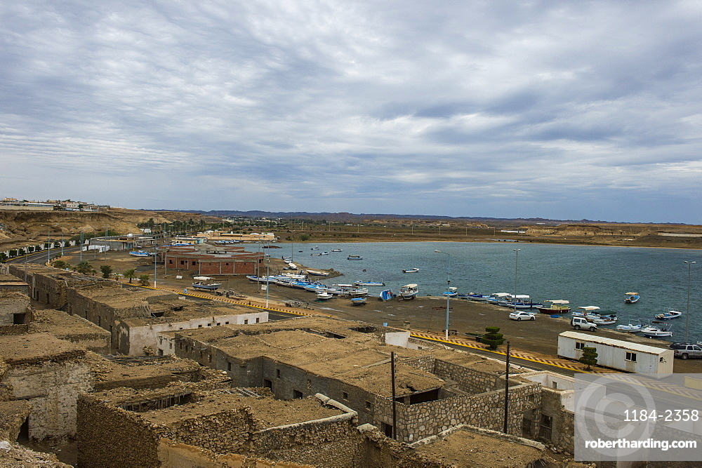 View over the harbour of Al Wadj, Saudi Arabia, Middle East