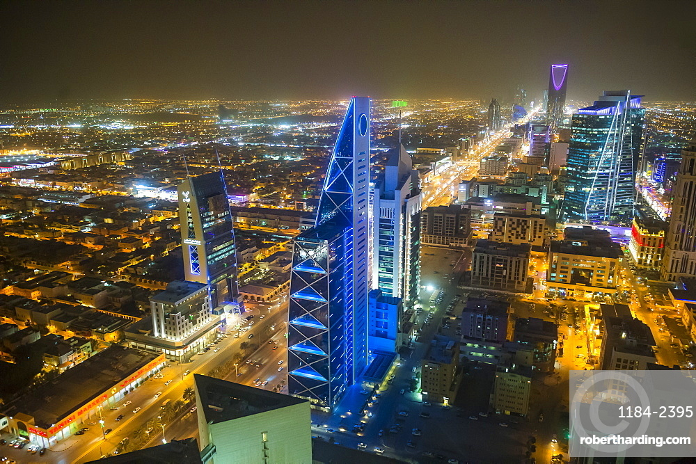 View over Riyadh from the Al Faisaliyah Centre skyscraper, Riyadh, Saudi Arabia, Middle East