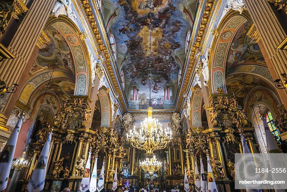 Interior of the Bernardine Church and Monastery, Lviv, UNESCO World Heritage Site, Ukraine, Europe