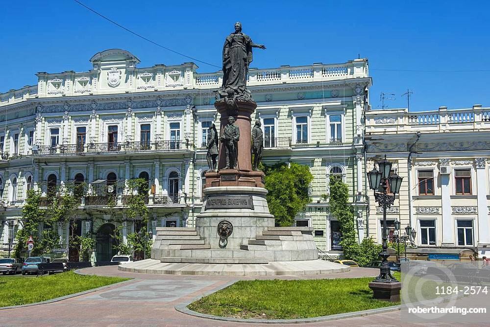 Monument to Catherine II, Odessa, Black Sea, Ukraine, Europe