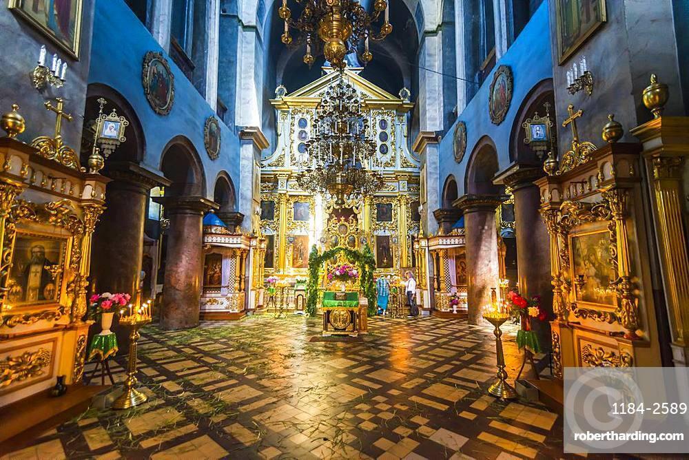 Interior of the Transfiguration Cathedral, Chernihiv, Ukraine, Europe