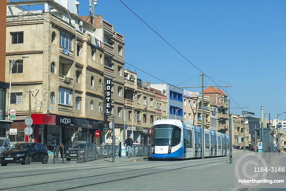 Modern tram in Algiers, Algeria