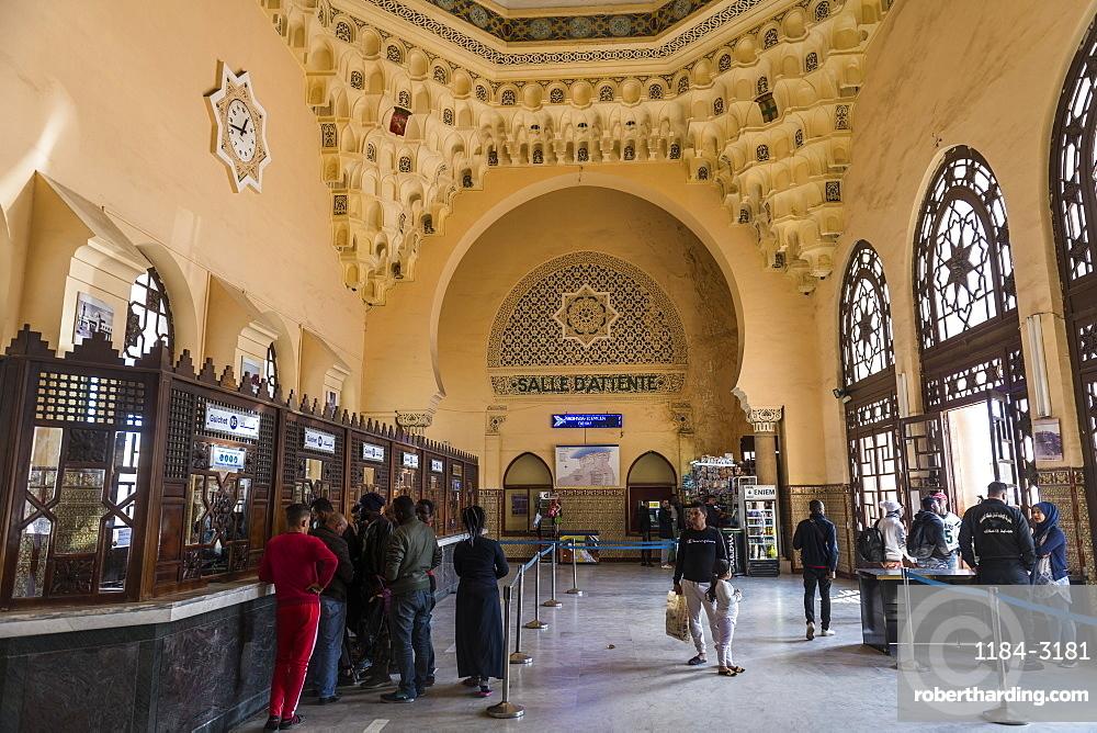 Beautiful colonial railway station of Oran, Algeria