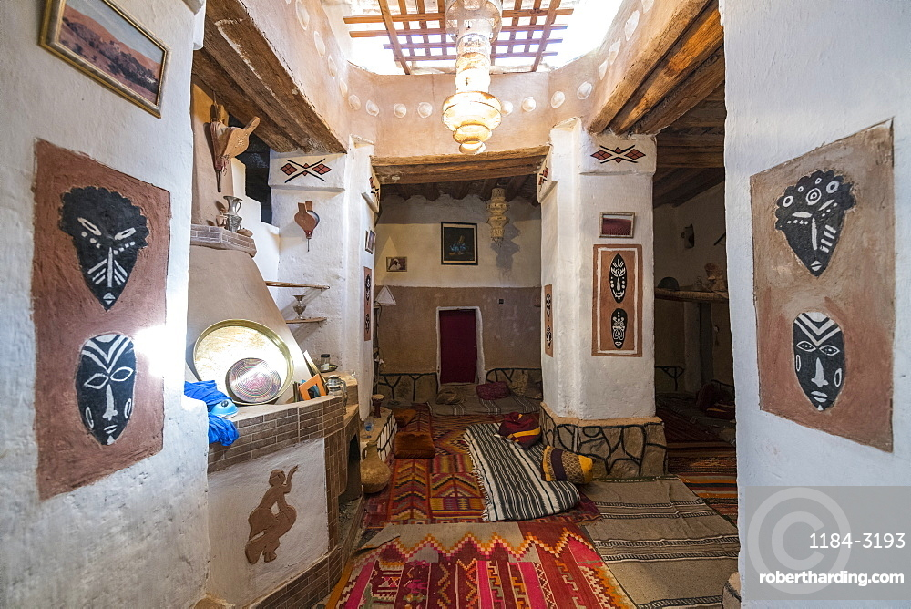 Traditional house in the old kasbah, old town, Oasis of Taghit, western Algeria