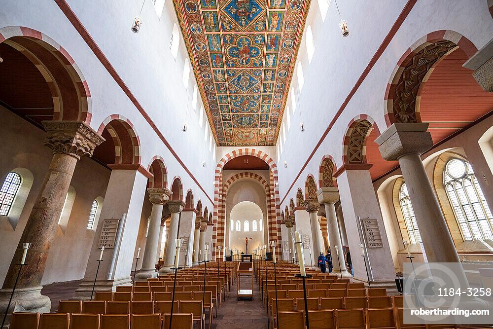 Interior of St. Michael's Church, Unesco world heritage sight Hildesheim, Lower Saxony, Germany