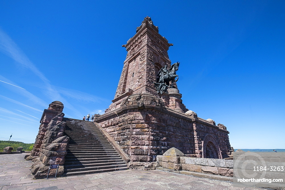 Kyffhaeuser Monument, Barbarossa monument, Thuringia, Germany