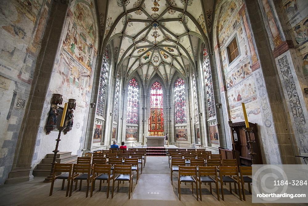 Interior of the Benedictine Abbey of Reichenau, Unesco world heritage sight Reichenau Island on lake Constance, Germany