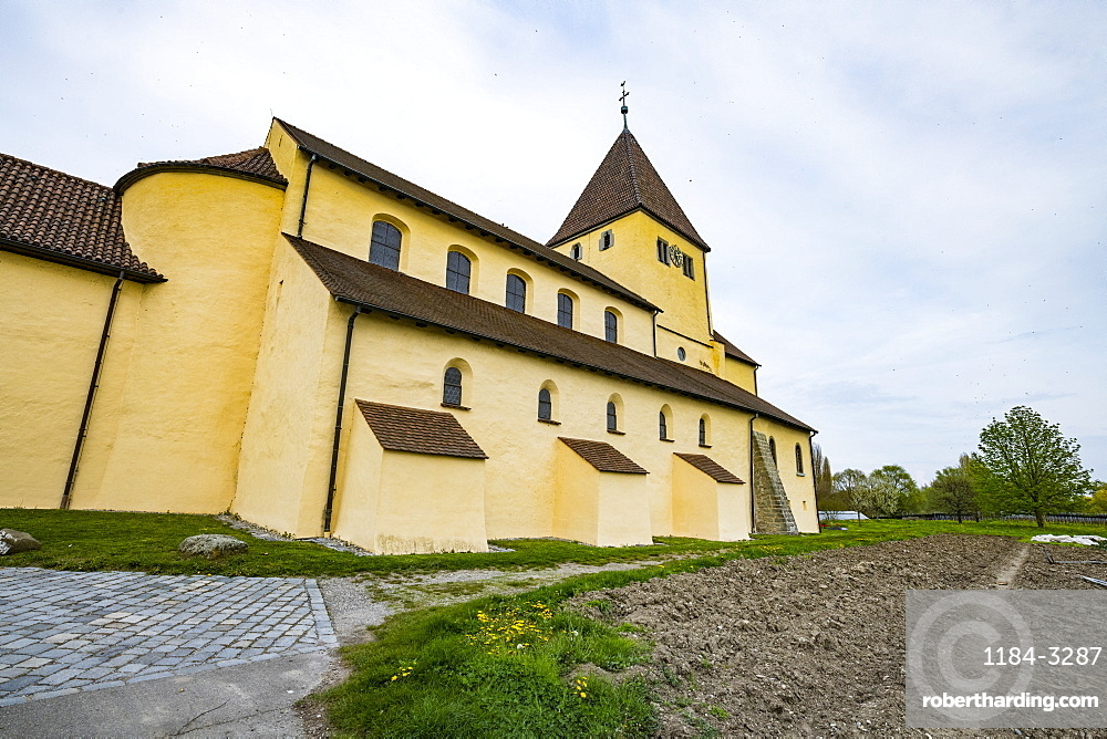 St. Georg church, Reichenau-Oberzell, Unesco world heritage sight Reichenau Island on lake Constance, Germany
