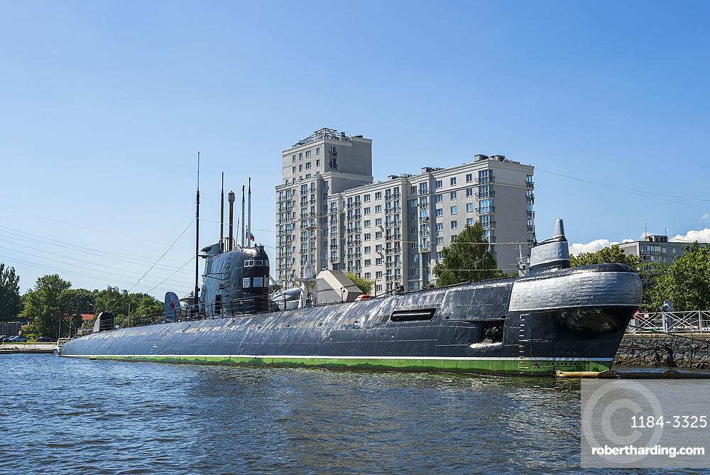 B 413 submarine in the World Ocean Museum, Kaliningrad, Russia, Europe
