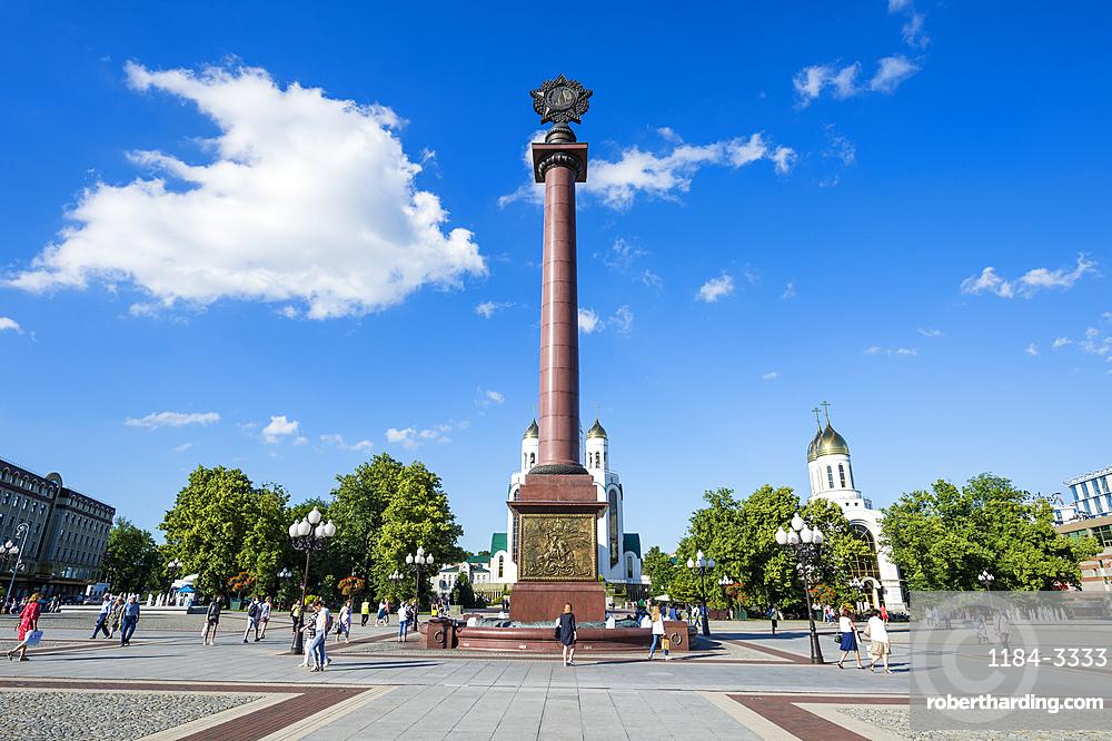 Triumphal column, Pobedy square, Kaliningrad, Russia