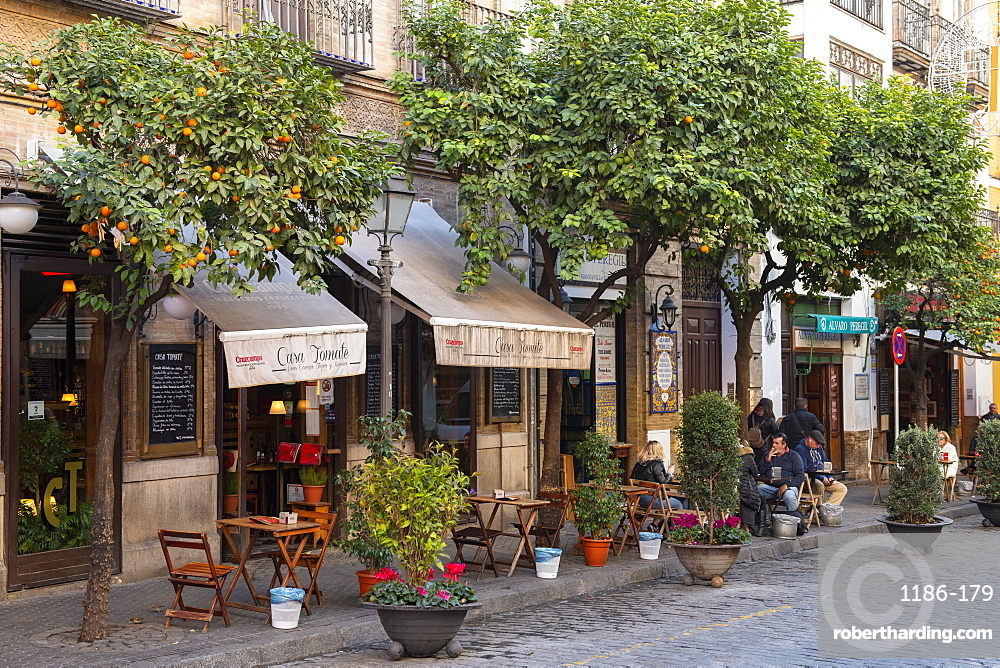 Cobbled streets of Seville, Andalusia, Spain, Europe