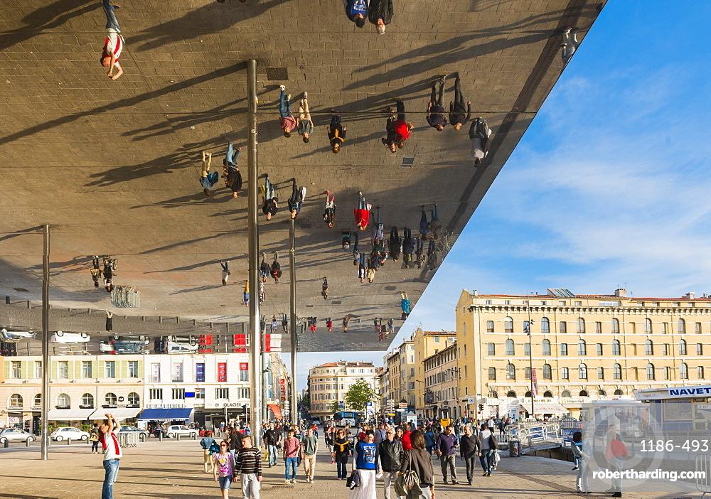 The Port Vieux Pavilion Mirrored Canopy Marseille, Bouches du Rhone, France
