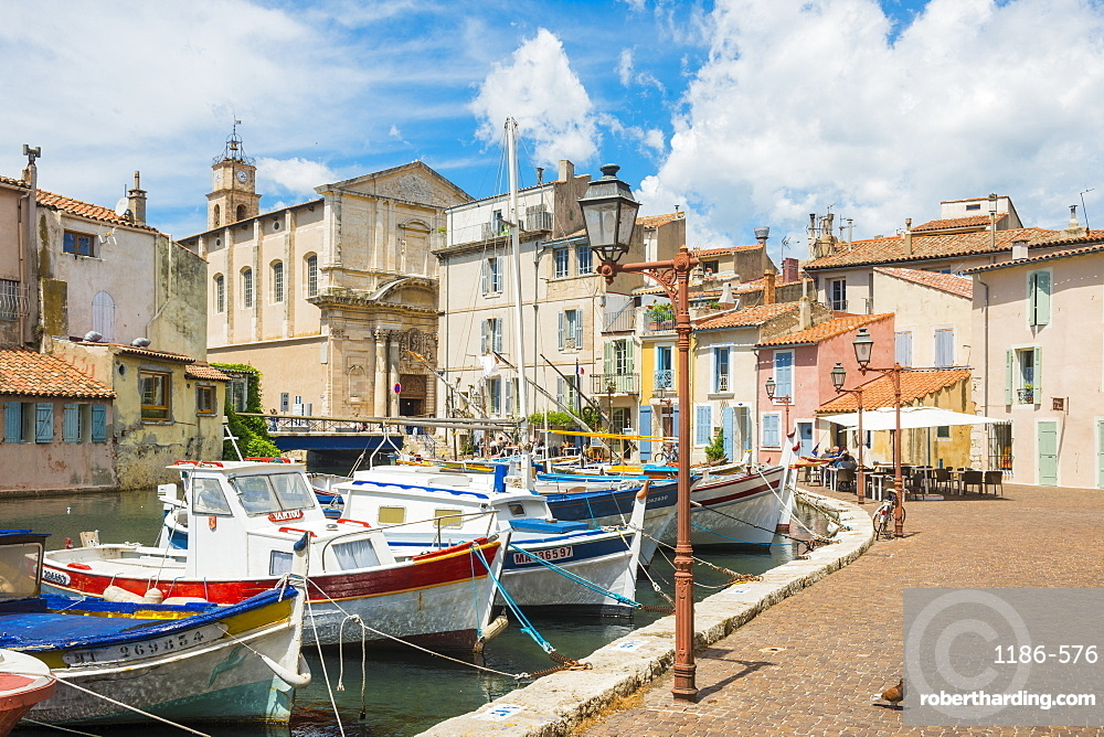 Boats in Martigues port, Bouches-du-Rhône, France,