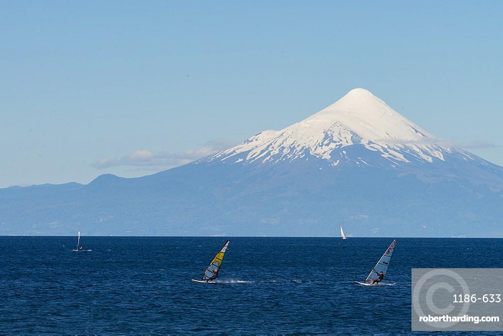 Llanquihue and Volcan Osorno, Puerto Varas, Chilean Lake District, Los Lagos, Chile