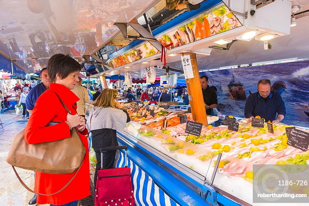 Market in Aix en Provence, Bouches du Rhone France
