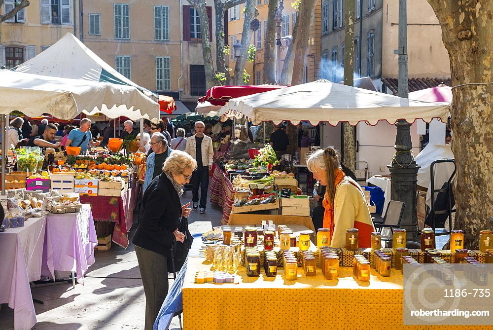 Market Aix en Provence, Bouches du Rhone France
