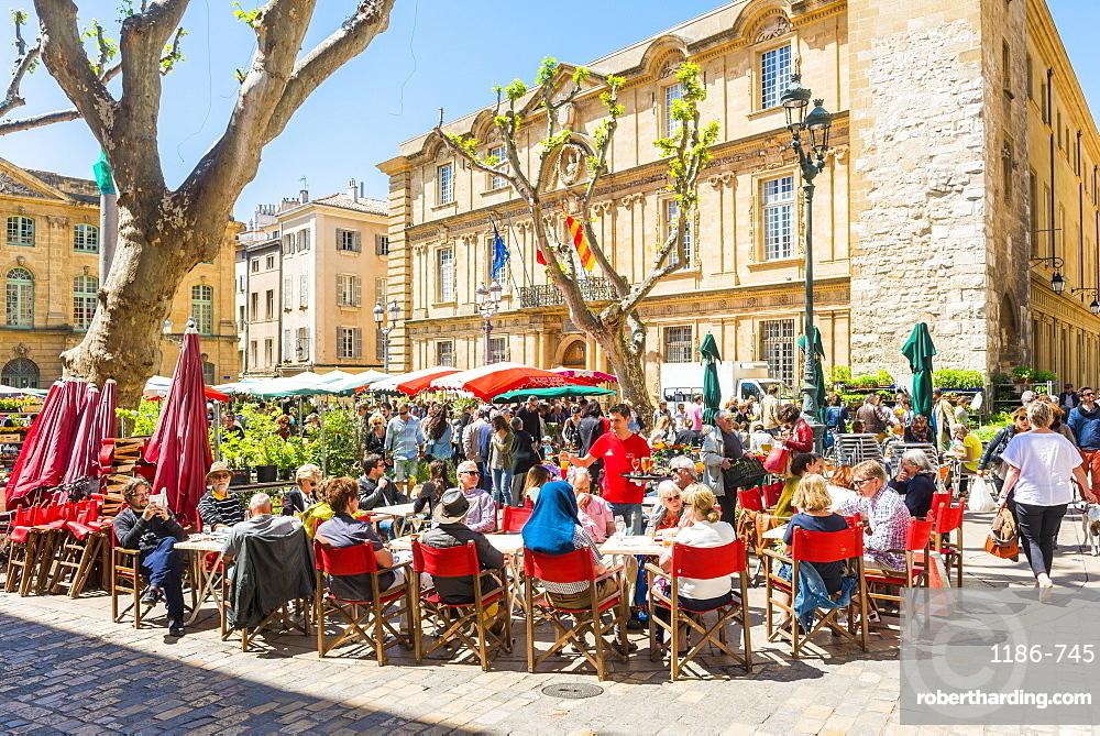 Cafe, Aix en Provence, Bouches du Rhone, Provence, Provence-Alpes-Cote d'Azur, France, Europe