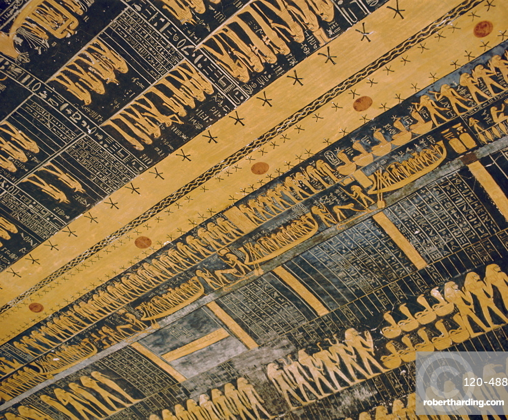 Ramses VI tomb, ceiling, Valley of the Kings, Thebes, Egypt