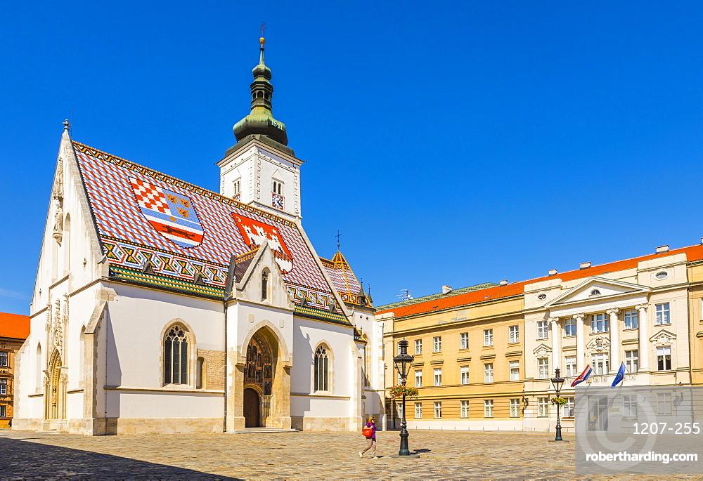 St. Mark's church on Market Square, Government Quarter, Upper Town, Zagreb, Croatia, Europe