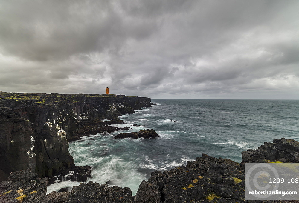 Svortuloft Lighthouse, Skardsvik, Snaefellsnes, Iceland, Polar Regions