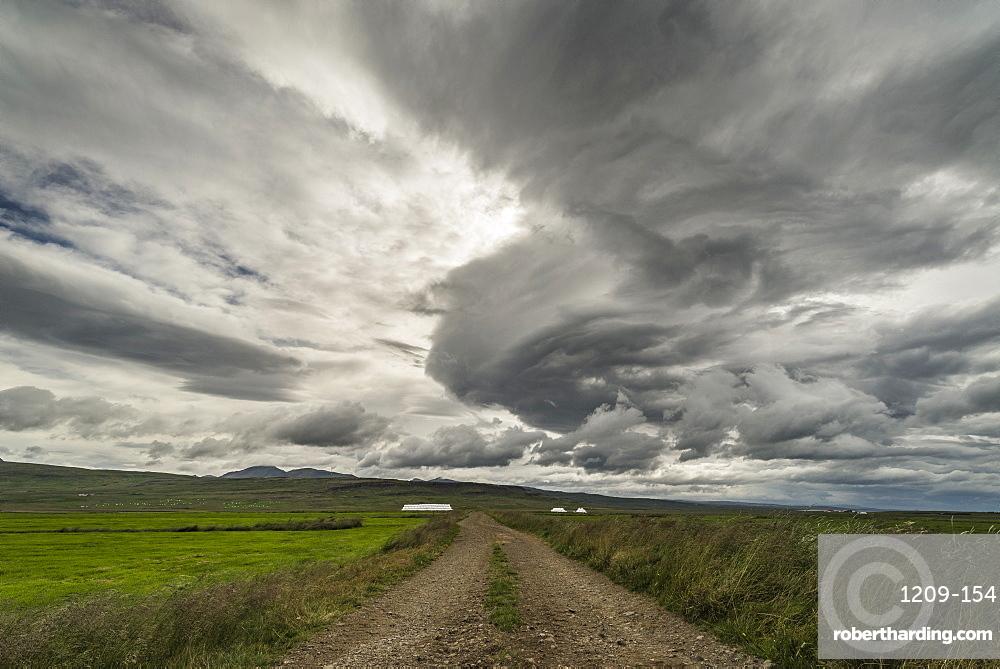 Supercell storm, Bogarnes, Iceland, Polar Regions