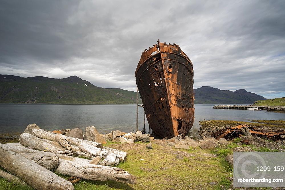 Djupavik, Strandir Coast, Westfjords, Iceland. Abandoned Boat.
