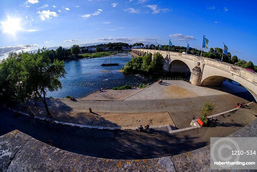 The Loire river, Tours, Indre et Loire, France