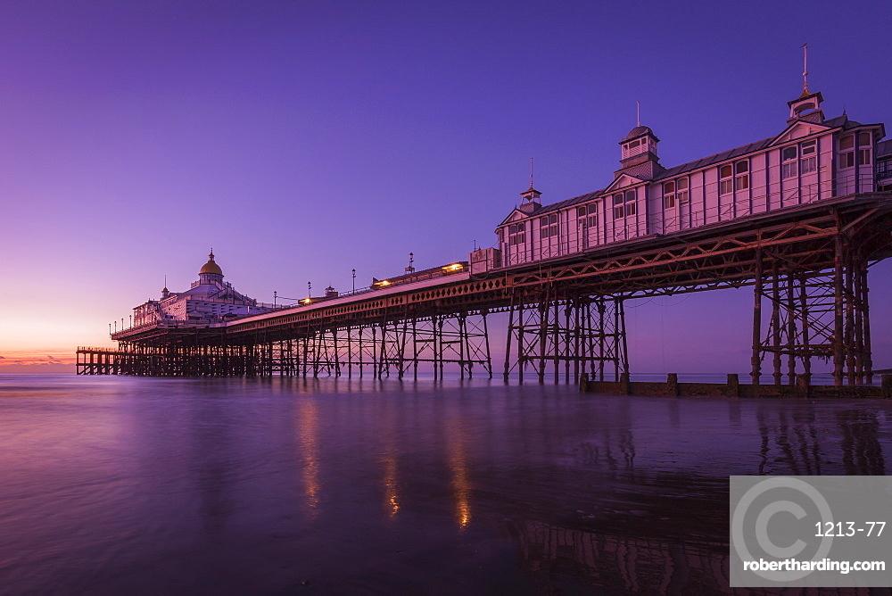 Sunrise at Eastbourne Pier, Eastbourne, East Sussex, England, United Kingdom, Europe