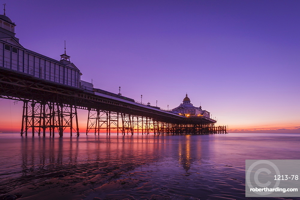 Sunrise at Eastbourne Pier, Eastbourne, East Sussex, England, United Kingdom, Europe