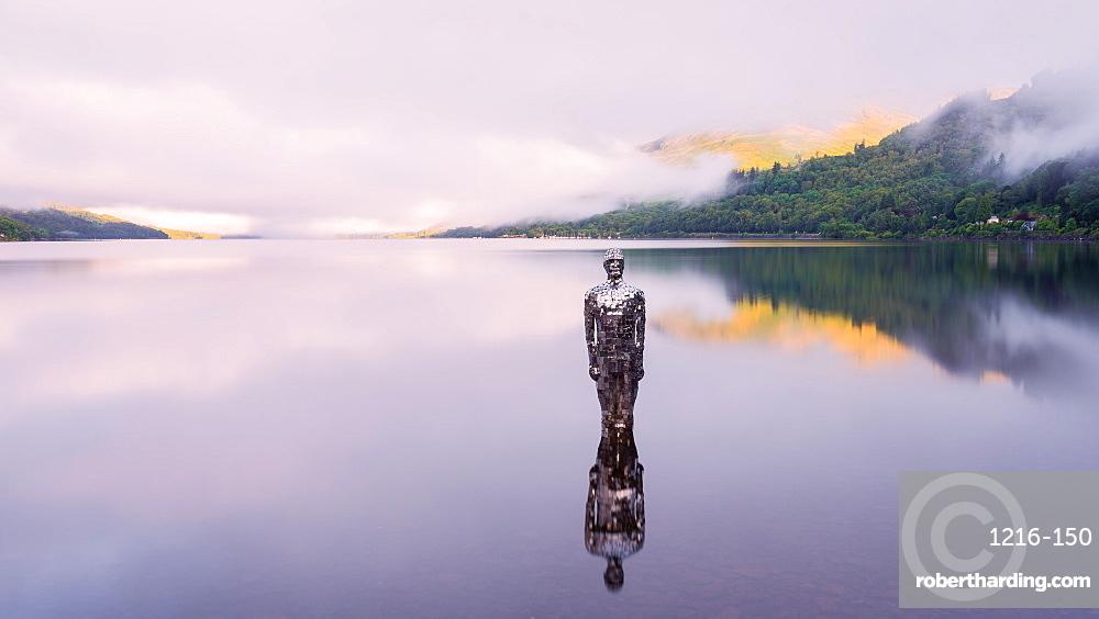 The Mirror Man, Loch Earn, Highlands, Scotland, United Kingdom, Europe