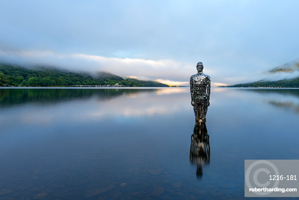 Mirror Man of Loch Earn, Highlands, Scotland, United Kingdom, Europe