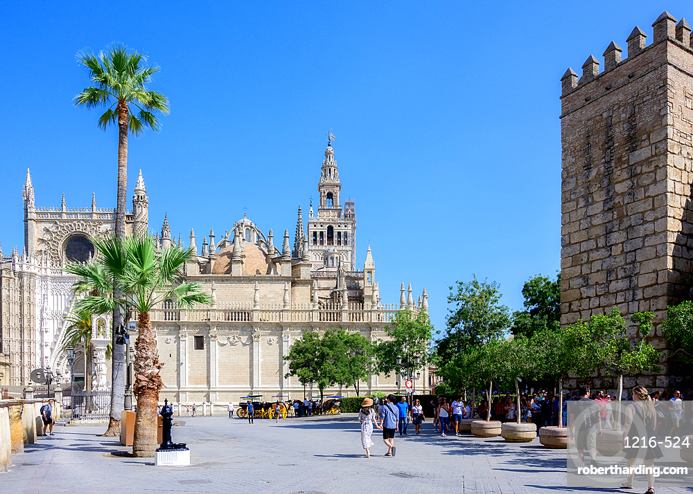 Cathedral of Sevilla, UNESCO World Heritage Site, Seville, Andalusia, Spain, Europe