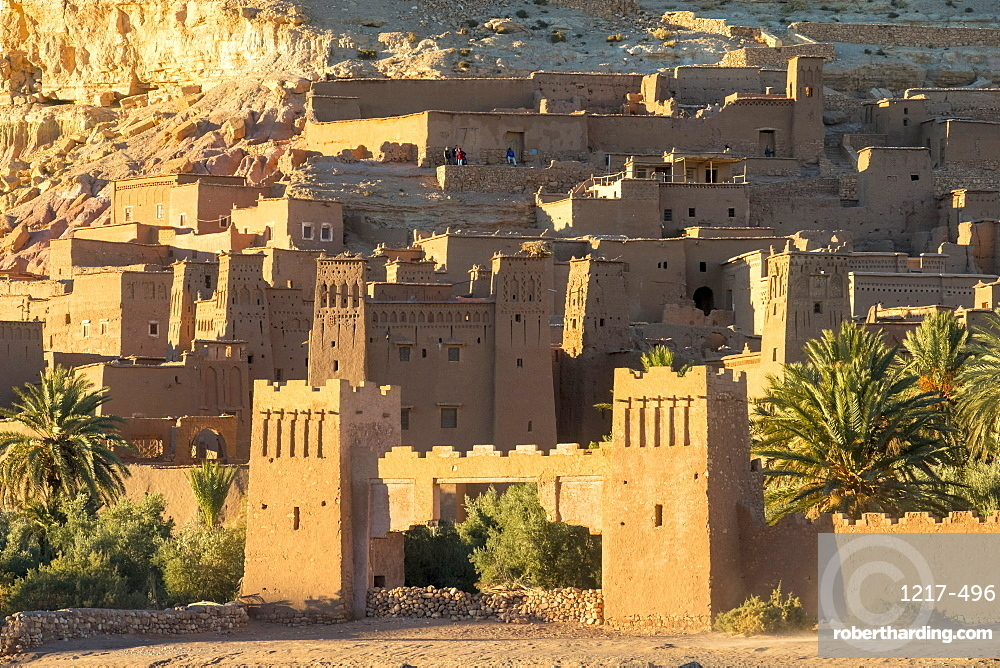 Morocco, Sous-Massa (Sous-Massa-Draa), Ouarzazate Province. Ksar of Ait Ben Haddou (Ait Benhaddou).