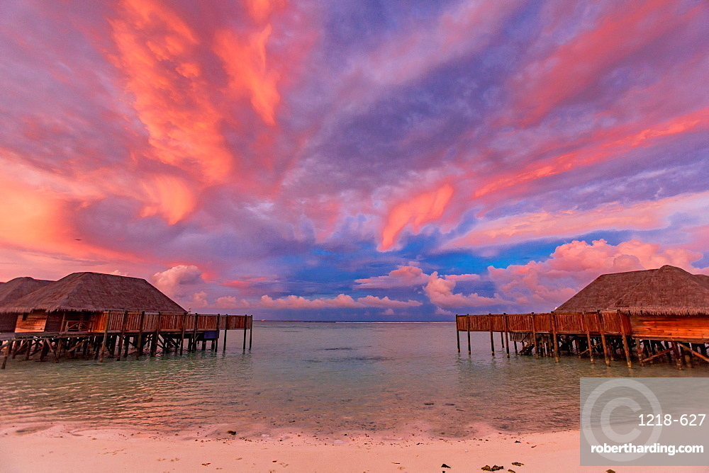 Beautiful scenery at Conrad Maldives Rangali Island, Maldives, Indian Ocean, Asia