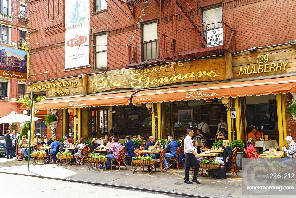 Italian Restaurant In Little Italy Manhattan New York City United States Of America